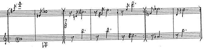 Feldman:  Palais de mari (example of meter change at end)