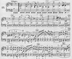 Opening of first movement of Beethoven Sonata, Op. 28