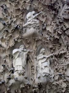 Heavenly bassoonist at Sagrada Familia