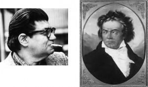Portraits of Feldman and Beethoven