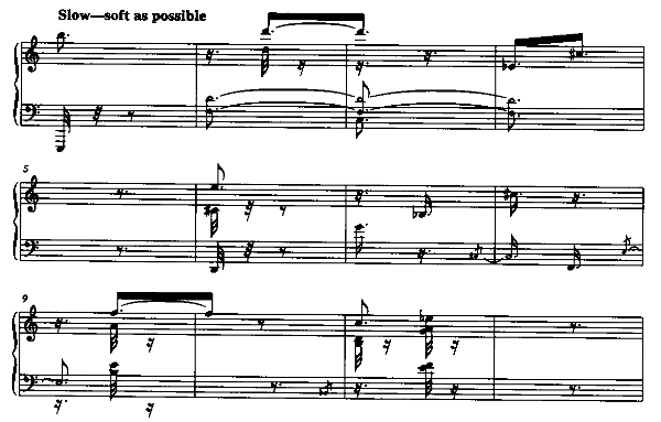 Feldman: Piano Piece 1956B