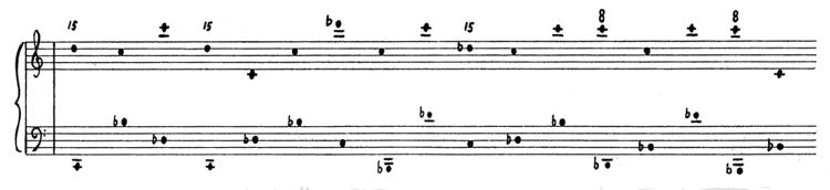Feldman: Two pianos (excerpt)