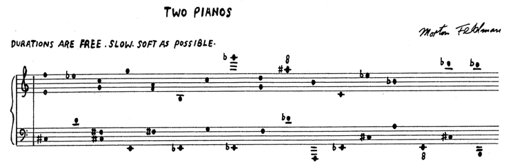 Feldman: Two pianos (opening)